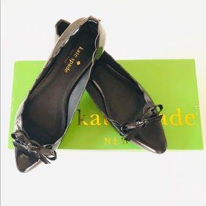 Kate Spade Eleni Flex Black Patent Flats